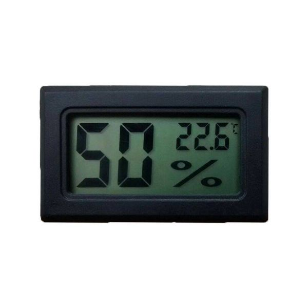 2in1 Digitale Hygrometer en Thermometer - Black