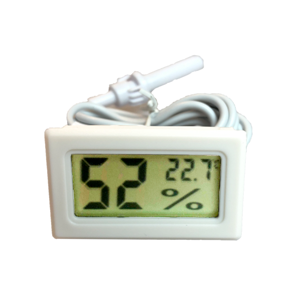 2in1 hygrometer and temperature white