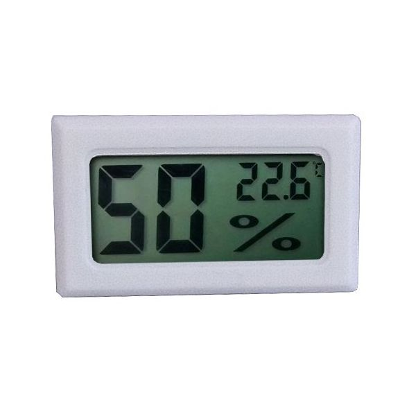2in1 Digitale Hygrometer en Thermometer - White Frontview